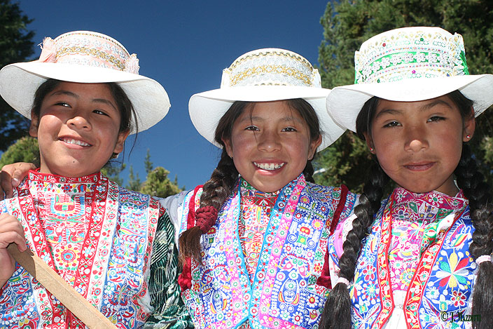 Native girls of Colca Valley