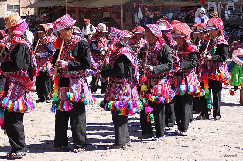 Natives in Taquile Island