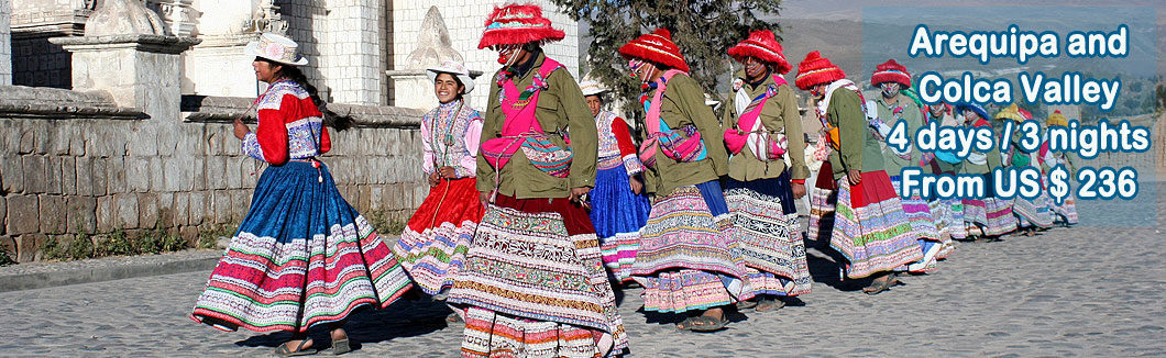 Tour Package Arequipa and Colca Valley 4 days
